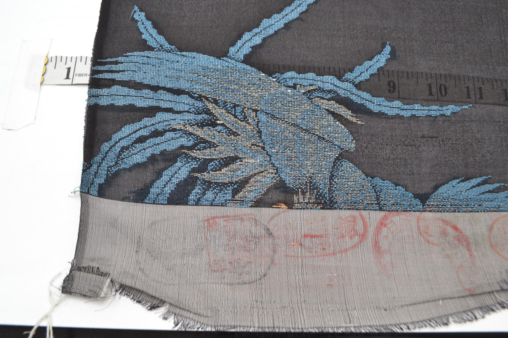 Japanese Textile Phoenix Blue - HTX