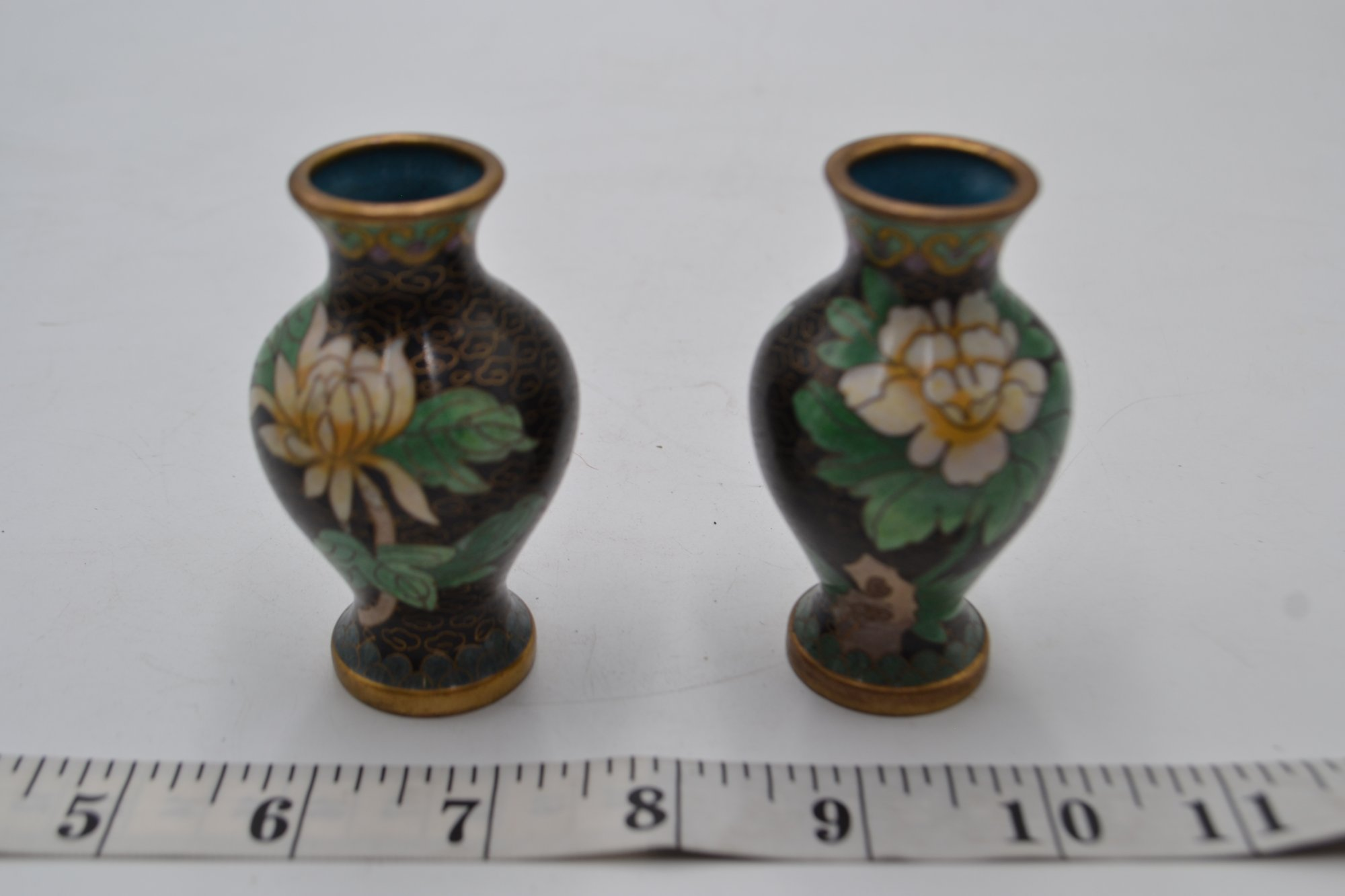 Cloisonne Pair Of Vases Small - SX