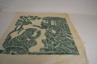 Thai temple rubbing of a monkey & God figure   AT