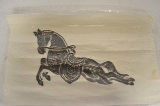 Thai temple rubbing of single horse   RX