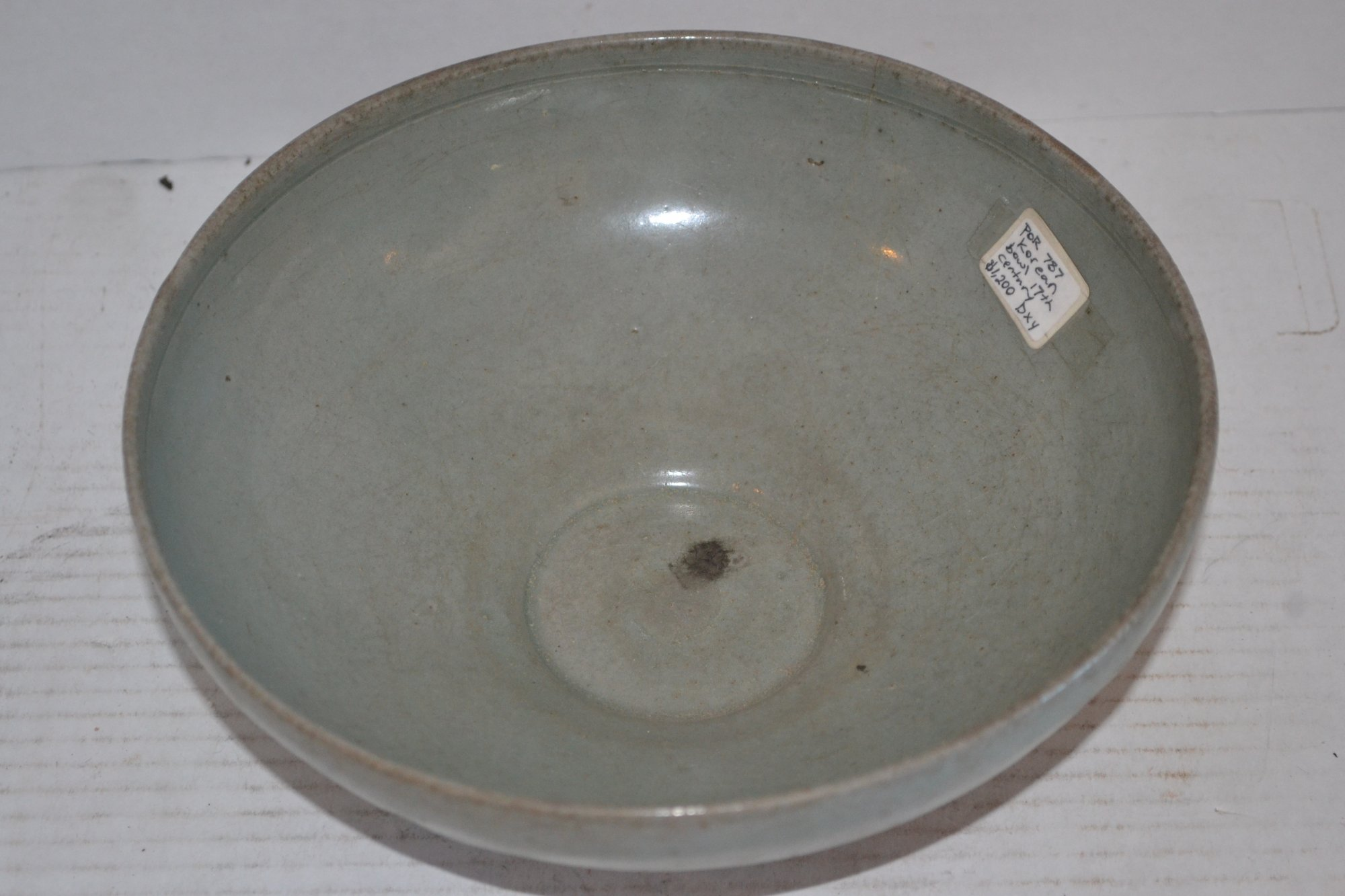 17th Century Korean Bowl H. 3.25 X Dia. 8