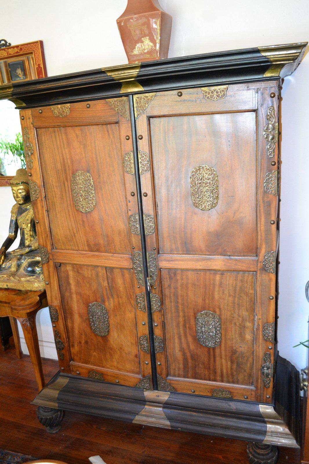 18th Century Indian Ceylon Sri Lankan (Dutch Occupied) Cabinet Ca. 1780