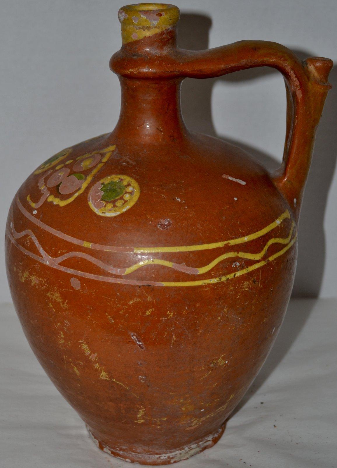 19th Century Greek Jug with handle