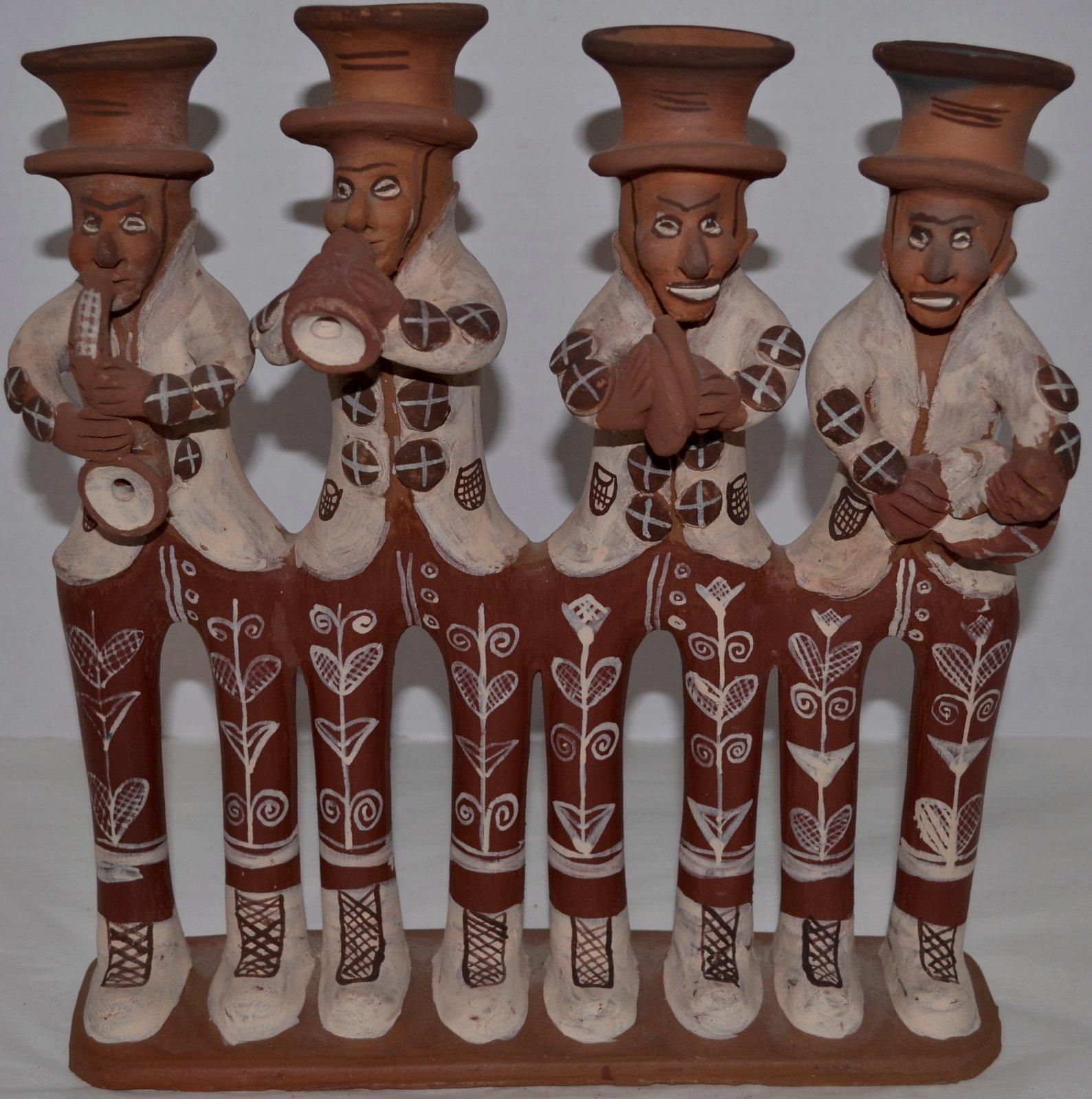 20th Century Panamanian Musical figures sculpture