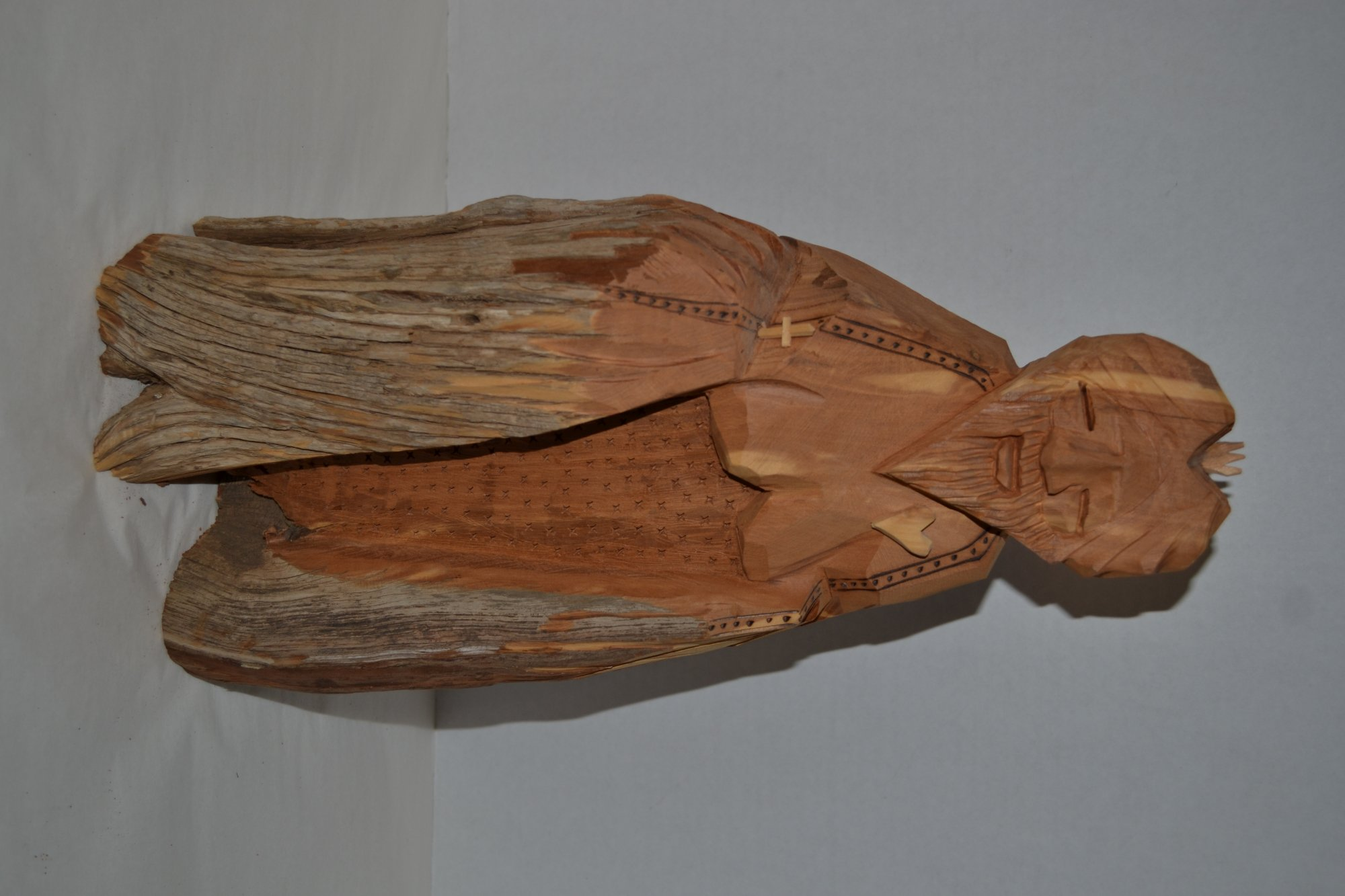 20th Century wooden religious carving statue from Santa Fe New Mexico