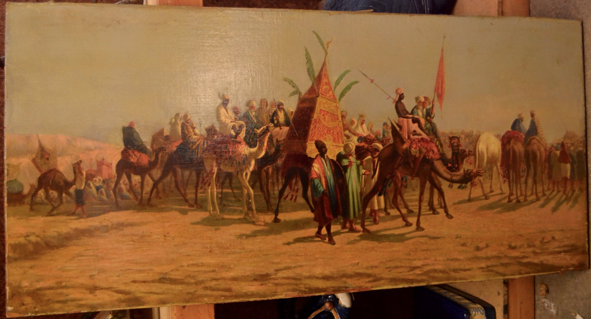 19th Century Persian painting on wood