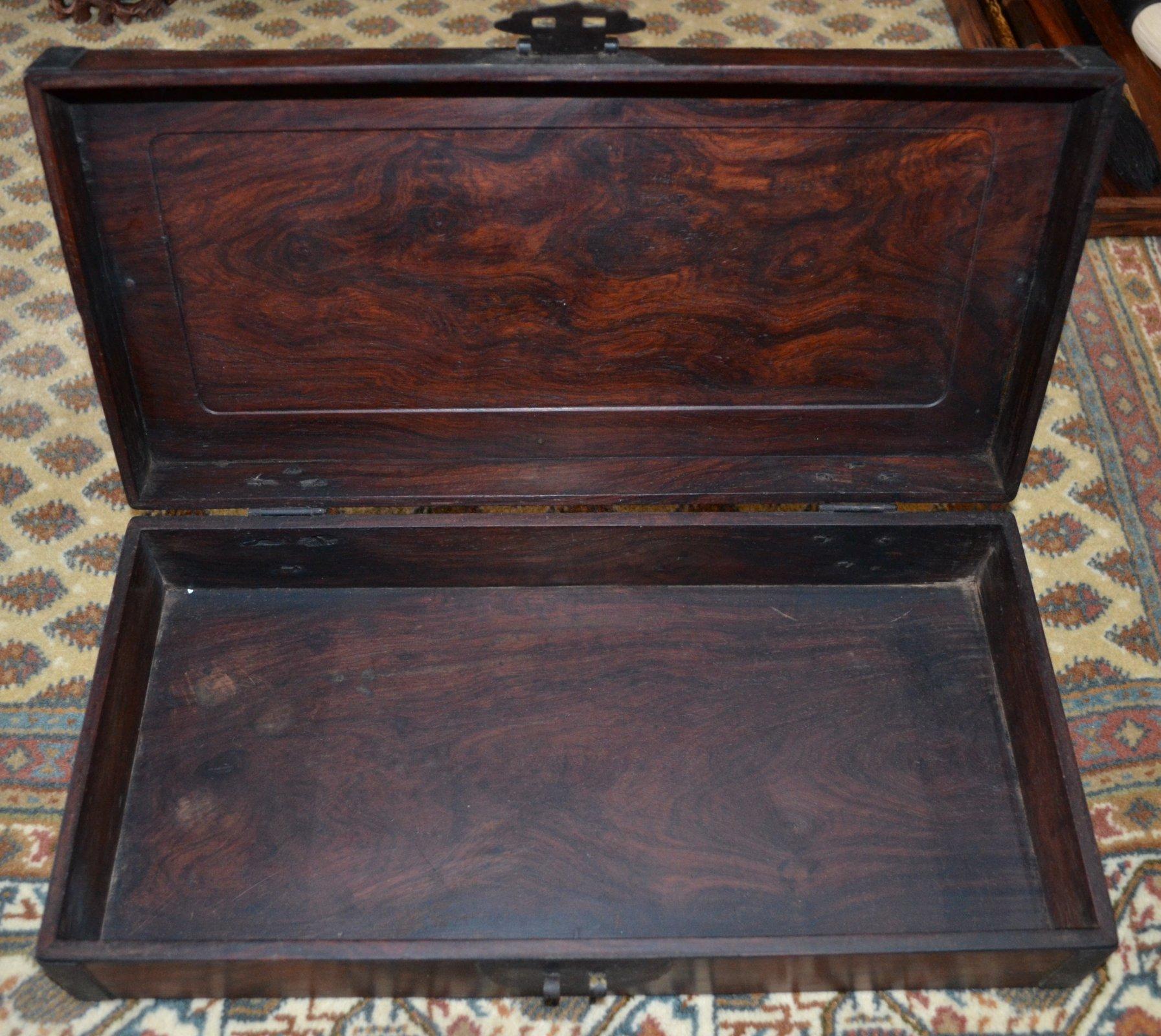 Chinese wooden hinged box