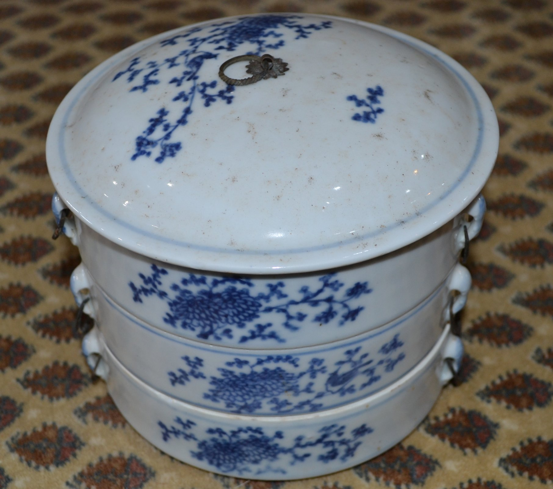 Chinese Blue and White Bento Box