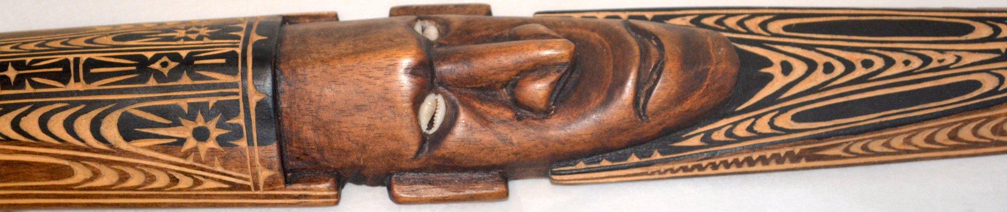 Oceanic Art wooden carved head