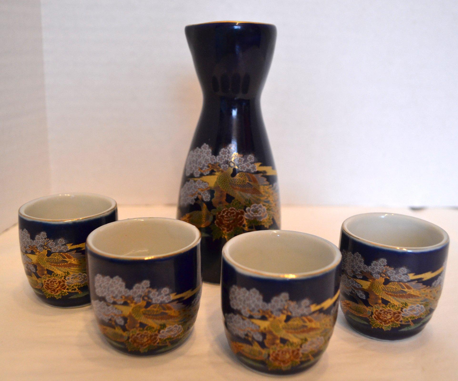 Japanese 5 pc Sake Set