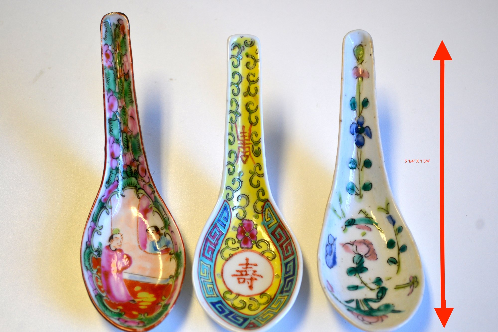 (3) Chinese Porcelain Spoons