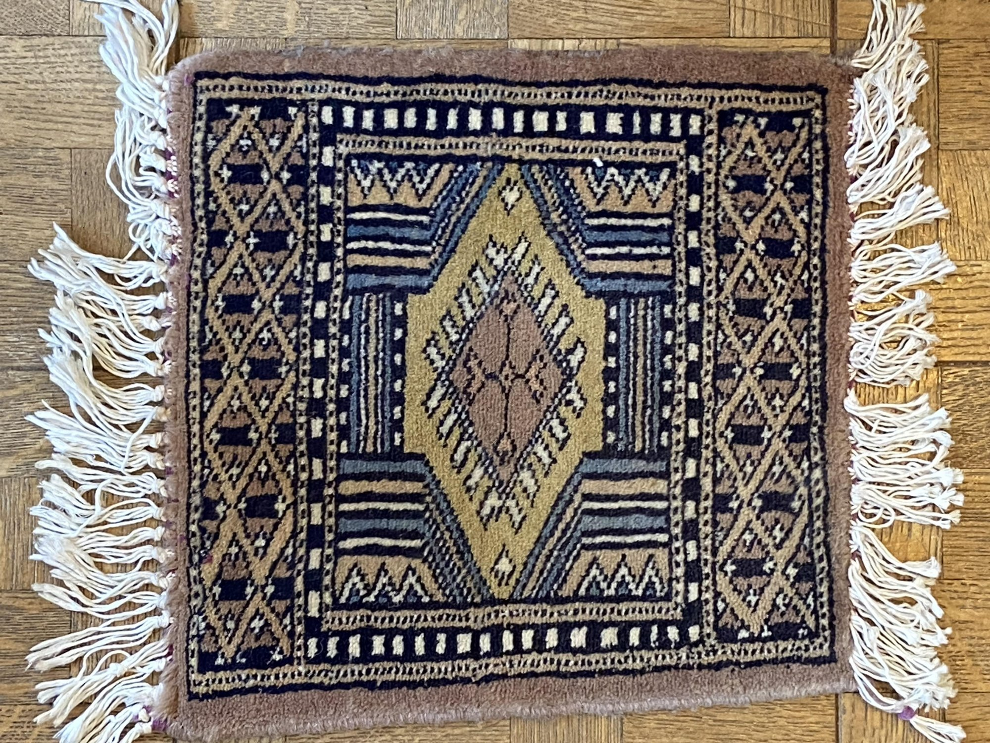 12 X 16 Miniature Gashgai rug, brown and black  PXY