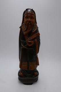Medium size wood carving of a wise man  SX