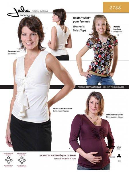 Jalie 2788 - Women's Twist Tops