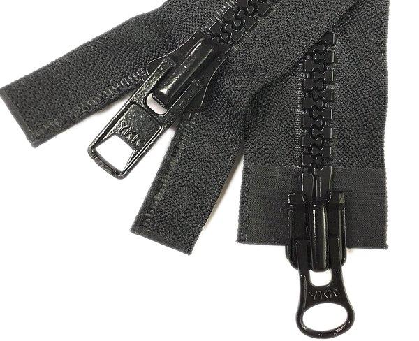 YKK #10 MT 2-Way Separating Zipper - 28 inch - Black