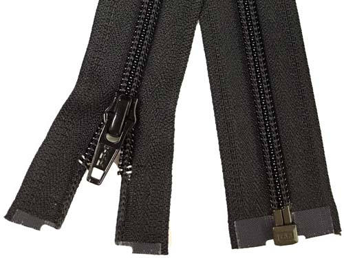 YKK #5 Coil 1-Way Separating Zipper - 30 inch - Black
