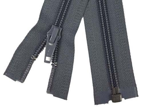 YKK #5 Coil 1-Way Separating Zipper - 30 inch - Charcoal