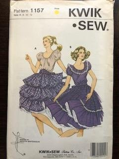 KS1157 - Misses' Square Dance Dress