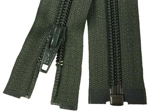 YKK #5 Coil 1-Way Separating Zipper - 30 inch - Dark Olive