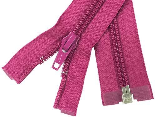 YKK #5 Coil 1-Way Separating Zipper - 30 inch - Fuchsia