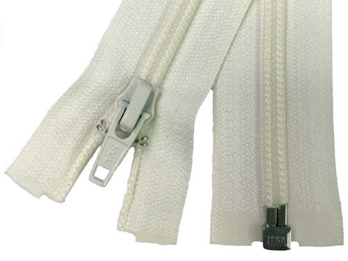 YKK #5 Coil 1-Way Separating Zipper - 30 inch - Ivory