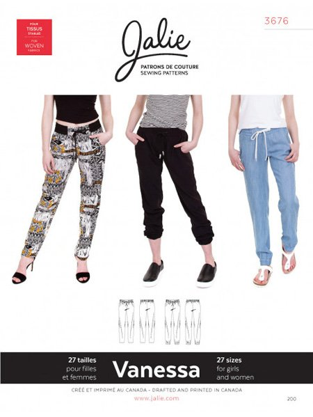 Jalie 3676 - VANESSA Fluid Pants