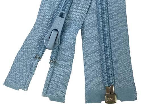 YKK #5 Coil 1-Way Separating Zipper - 30 inch - Light Blue