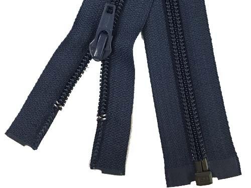 YKK #5 Coil 1-Way Separating Zipper - 30 inch - Navy