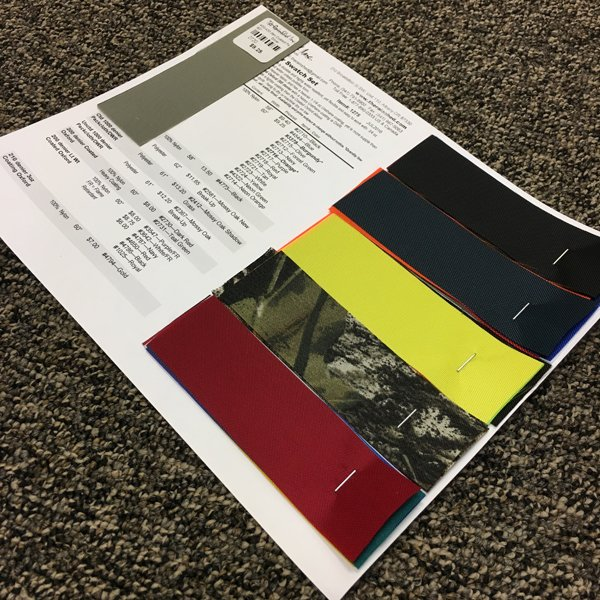 1275 Packcloth Color Swatch Set