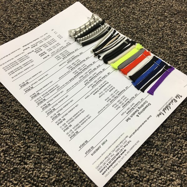 1282 - Drawstring & Cording Swatch Set
