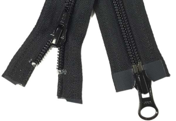 YKK #5 Coil 2-Way Separating Zipper - 40 inch - Black