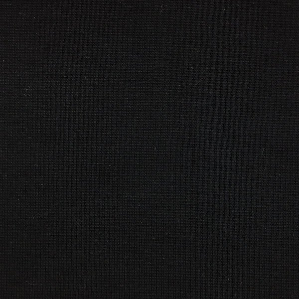 Cotton Lycra Ribbing - Black