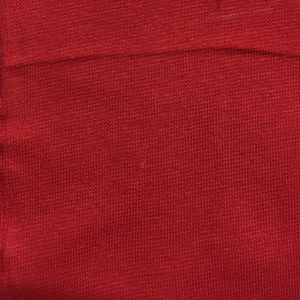 Cotton Lycra Ribbing - Red