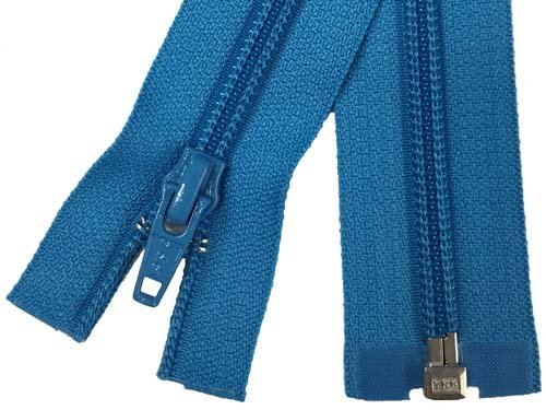 YKK #5 Coil 1-Way Separating Zipper - 30 inch - Turquoise