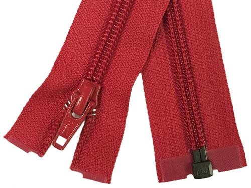YKK #5 Coil 1-Way Separating Zipper - 30 inch - Red