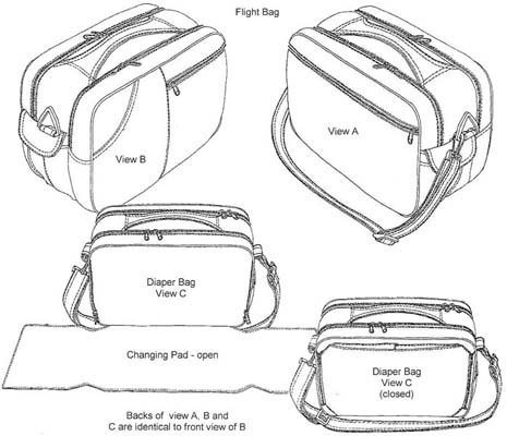 RS100 - Flight Bag - 500 Cordura Kit