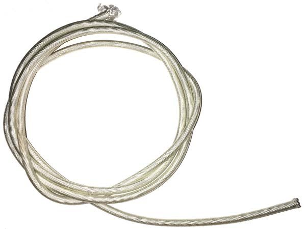 1/8 inch - Shock Cord -  White with Black Tracer