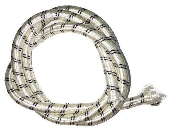 3/8 inch - Shock Cord - White w/Black