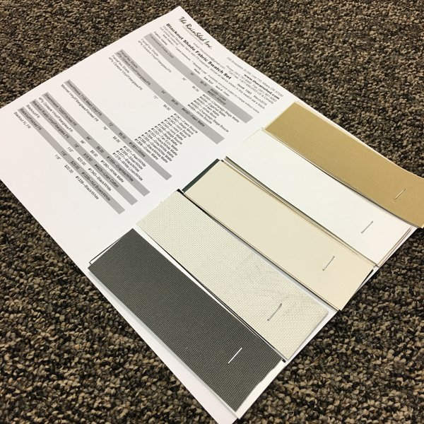 1383 Blackout Shade Fabric Swatch Set