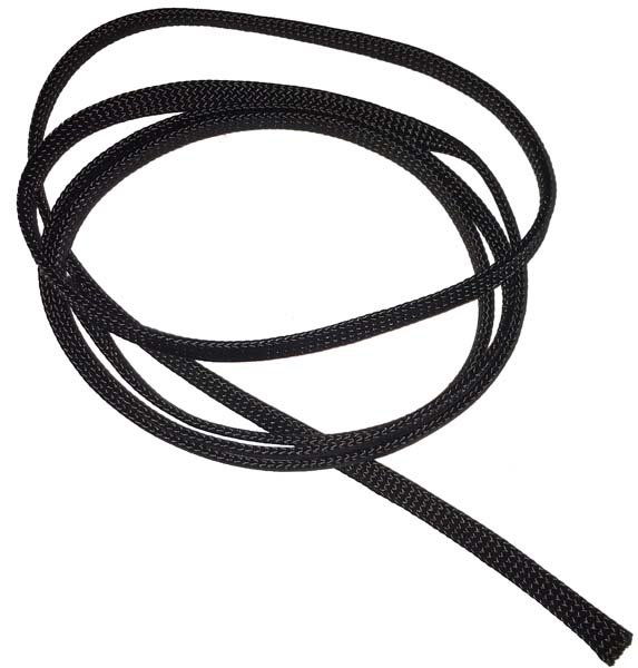 1/4 inch - Flat Nylon Bootlace - Black