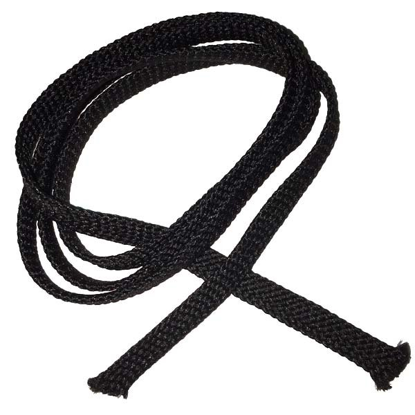 1/4 inch - Flat Polyester Cord - Black