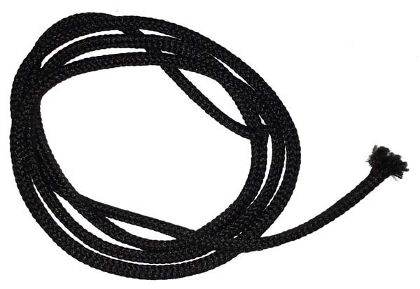 1/8 inch - Round Polyester Cord - Black