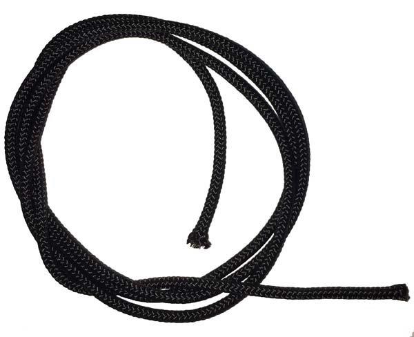 1/8 inch - Parachute Cord Nylon - Black