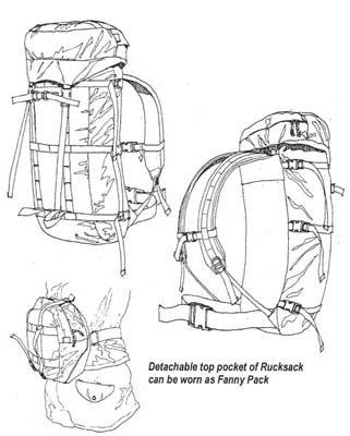 RS150 - Alpine Rucksack - 1000 Cordura Kit