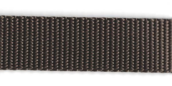Heavy Nylon Web - 1 inch - Brown