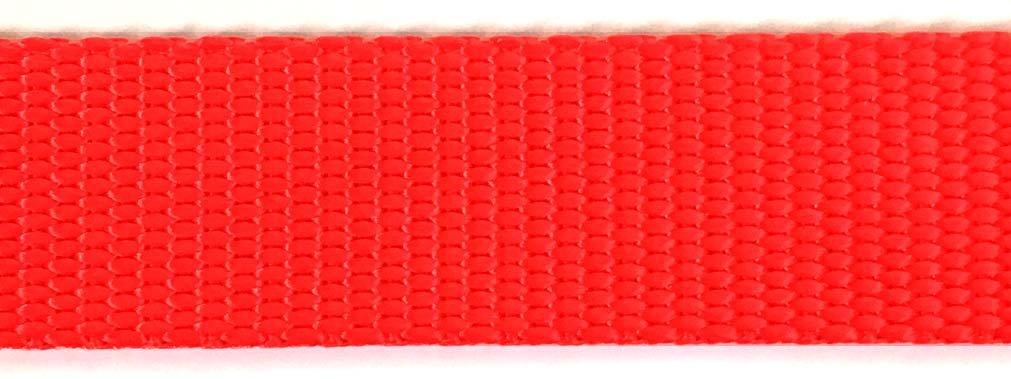 Heavy Nylon Web - 1 inch - Hot Orange