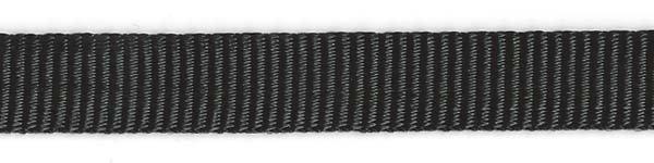 Tubular Nylon Web - 1/2 inch - Black