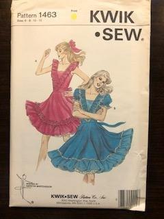 KS1463 - Misses' Square Dance Dress