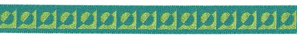 Half Moon - 3/8 inch - Turquoise/Lime