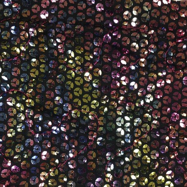 Foil Print Sequins - Rainbow